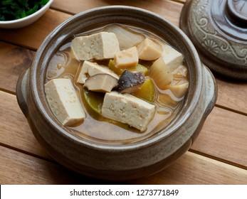 Korean food Soybean Paste Stew, doenjangguk, miso soup