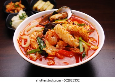 Korean Food - Spicy seafood noodle