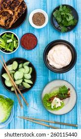 Korean food, top view