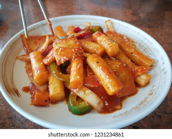 Korean food Tteokbokki spicy rice cakes