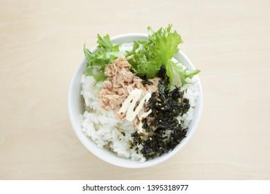 Korean food, tuna and mayonniase with seaweed rice