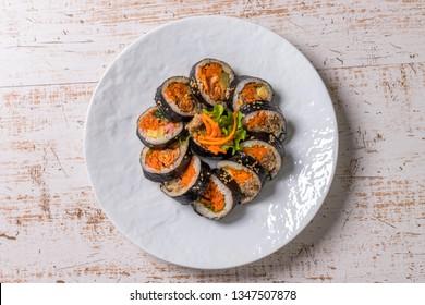 Korean foods gimbap(kimbap)