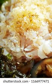 Korean fresh raw seafood rice bowl