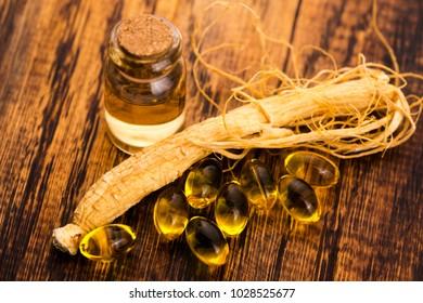 Korean ginseng. Herb, health.