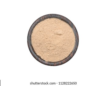 Korean ginseng powder isolated on a white background.