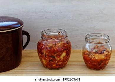 Korean healthy kimchee food cuisine. Traditional food recipe.