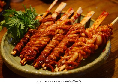 korean long-legged octupus cuisine