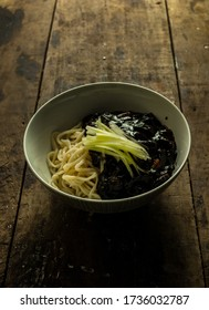 korean noodles with black sauce (Jajangmyeon) - korean food style