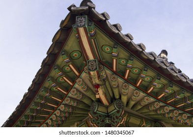 korean old eaves of palace