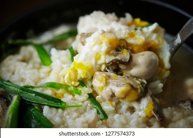 Korean oyster porridge