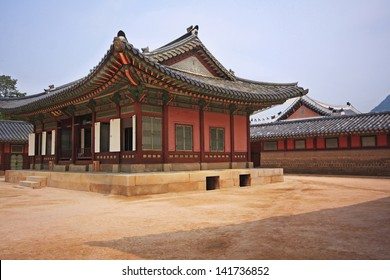 The korean pavilion in the palace at Seoul, South Korea