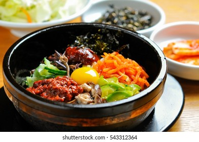 Korean rice in hot pot