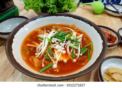Korean soup with side dish