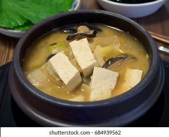 Korean Soybean Paste Stew (miso soup)