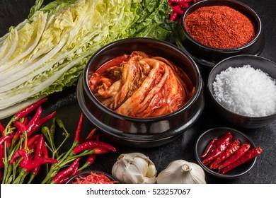 Korean spice and kimchi