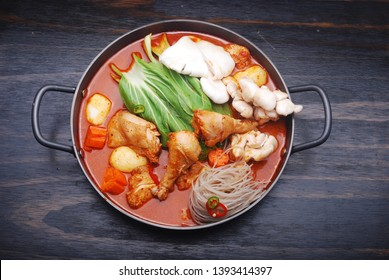 Korean Spicy Chicken Hot Pot