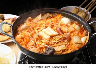 Korean Spicy Stir-fried Rice Cake