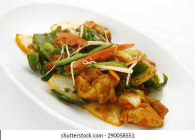 Korean style pan fried vegetable
