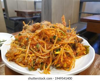 Korean style spicy Agu(fish) steamed food