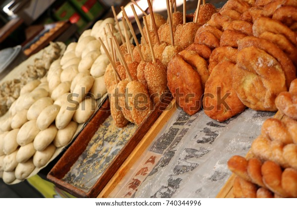Korean Style Sweet Rice Donuts Stock Photo (Edit Now) 740344996