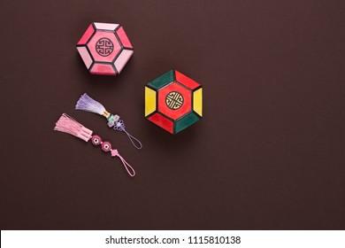 korean traditional craft box and norigae