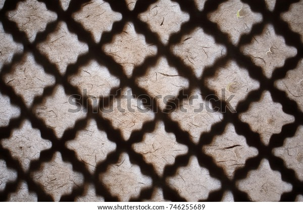 Korean traditional doors and changhoji (traditional Korean paper made from mulberry bark (for doors and windows))