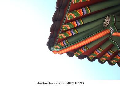 Korean traditional eaves, seolleung, Unesco world heritage