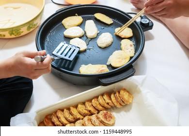 Korean traditional food jeon for Chuseok, Korean Thanksgiving Day