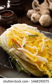 Korean traditional food kimchi on plate