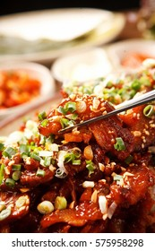 Korean Traditional Food Spicy Pork Foot