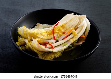 Korean traditional food water kimchi which is called Baek-kimchi