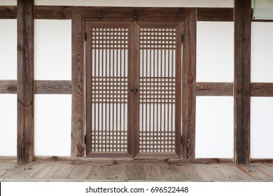 Korean traditional grate door