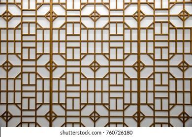 Korean traditional hanok door pattern.