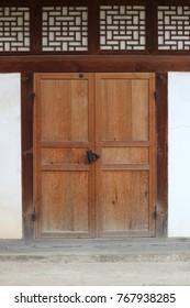 Korean traditional house door