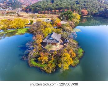 korean Traditional House in Wiryangji Reservoir, Miryang, Gyeongsangnamdo, South Korea, Asia