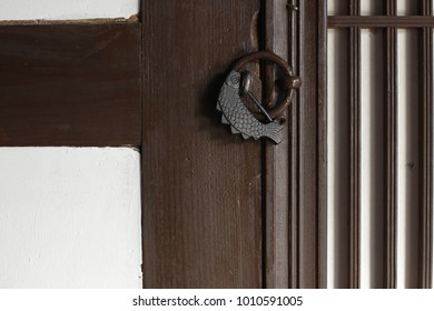 Korean traditional lock with pattern