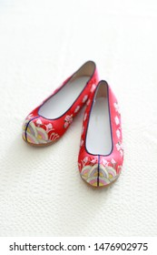 Korean traditional new year's image, flower shoe
