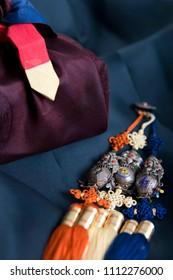 korean traditional ornament, norigae and gift box (Translation: enjoy longevity)