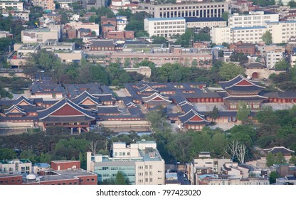 Korean Traditional Palace in Seoul (Aerial)