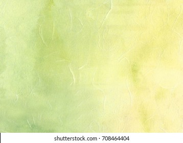 Korean traditional paper made of yellow and green.