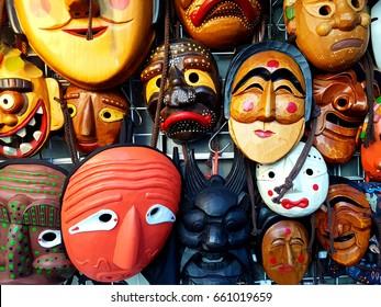 Korean traditional souvenir 'Hahoe masks'