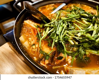Korean traditional spicy soup dish