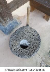 Korean traditional stone hand mill