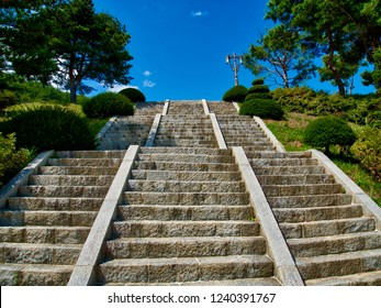 Korean traditional stone stairs