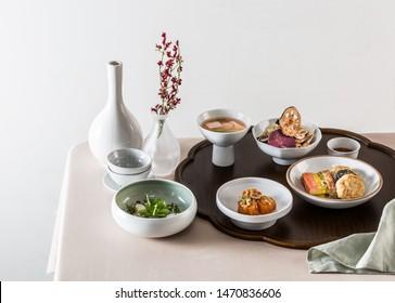 korean traditional table dinner table royal cuisine