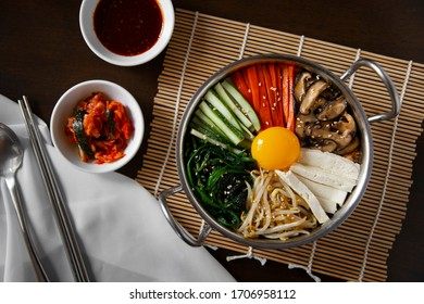 Korean traditional vegetarian food Bibimbap