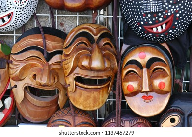 Korean Traditional Wooden Mask (Hahoe mask)