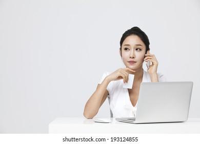 Korean woman shopping