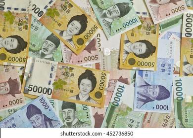 Korean won bills