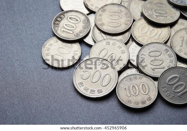 Korean won coins
